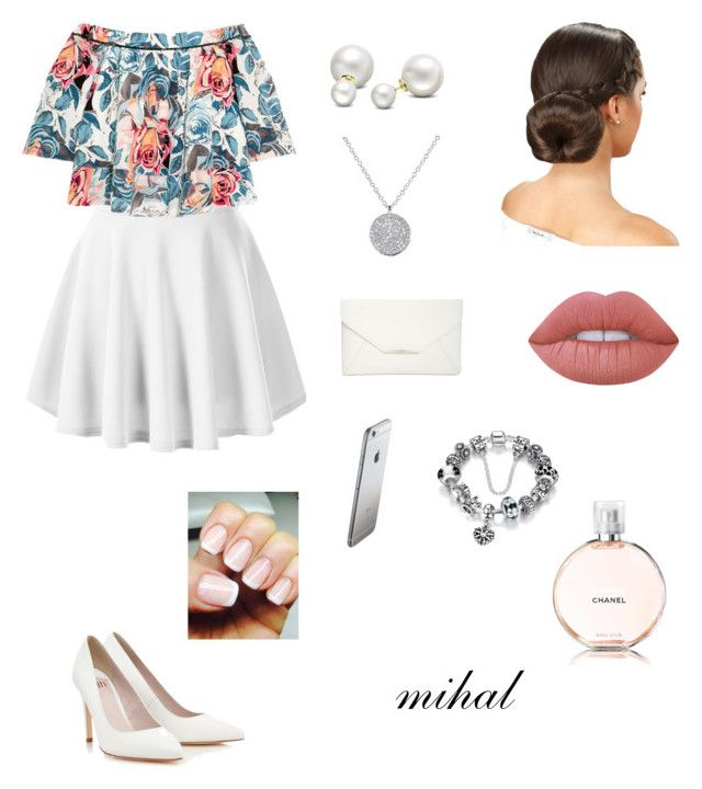 """Untitled #68"" by mihal4314 ❤ liked on Polyvore featuring Elizabeth and James, Lipsy, Style & Co., Allurez, Lime Crime and Chanel"