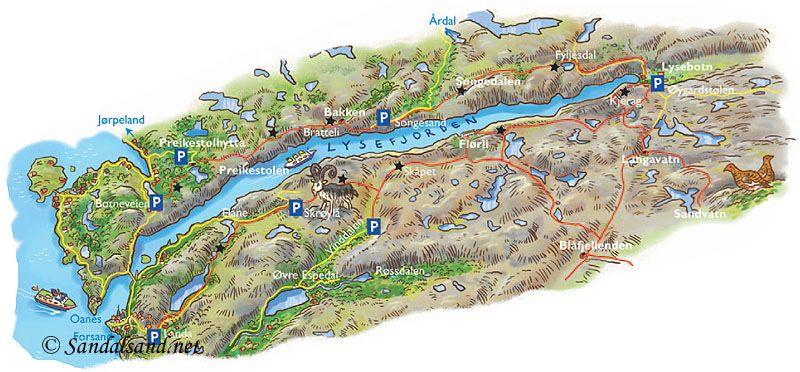 kart lysefjorden lysefjorden norway   Google Search | Maps | Pinterest kart lysefjorden