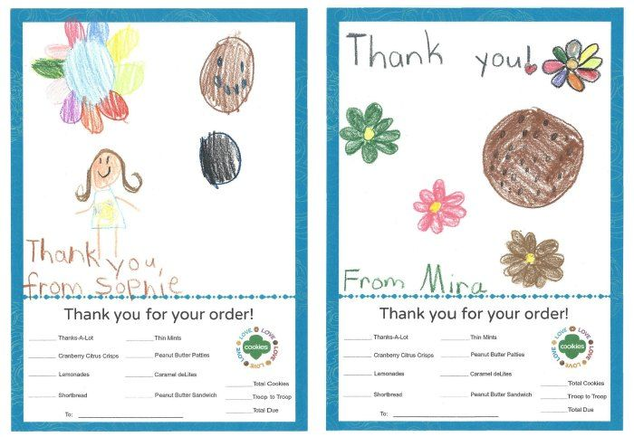 photo about Girl Scout Cookie Thank You Note Printable identified as Pin upon Lady Scouts Daisies