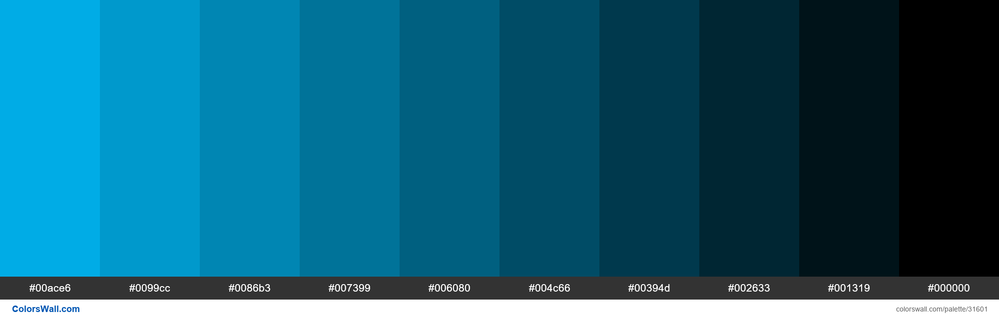 Shades X11 Color Deep Sky Blue 00bfff Hex In 2020 Hex Colors