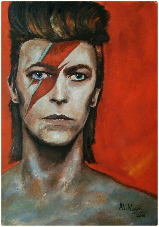 David Bowie Oil Portrait