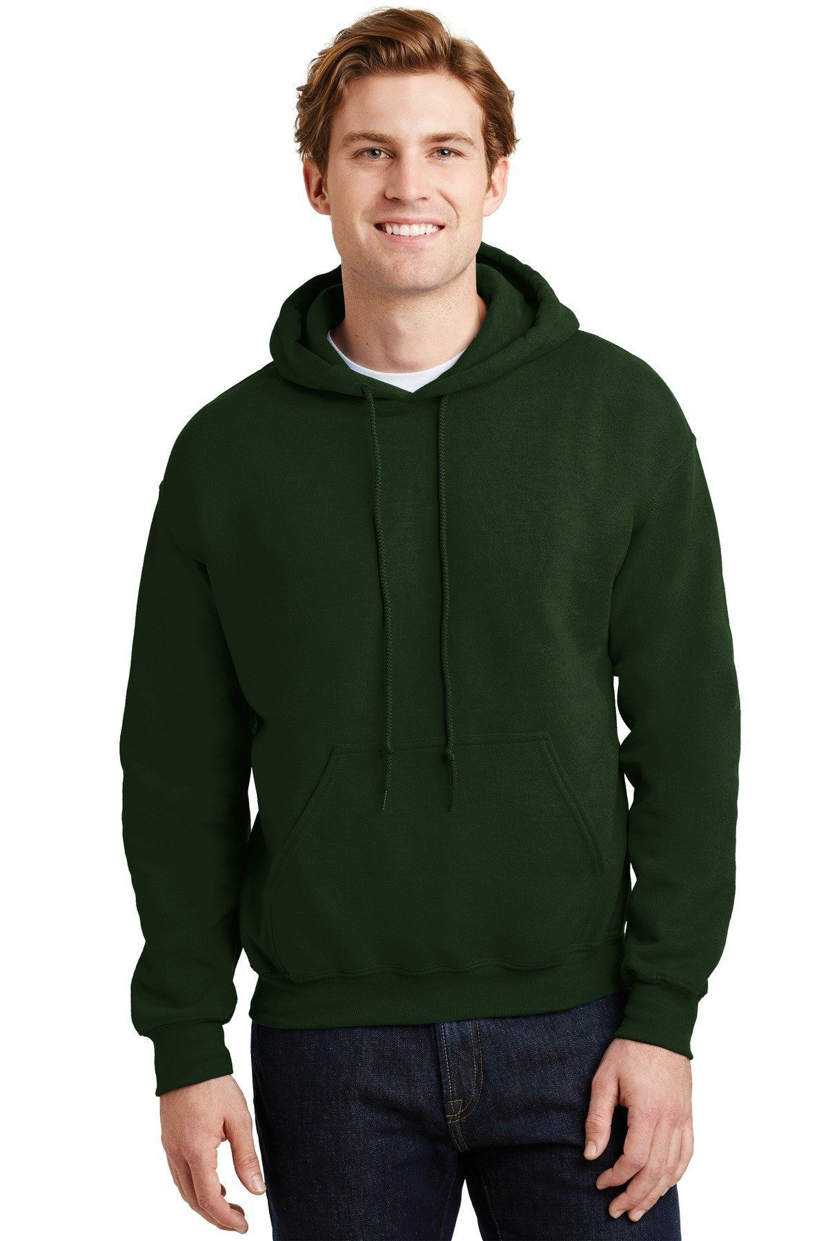Forest Green Adult Gildan Plain Hooded Heavy Blend Pullover Sweater mens hoodie