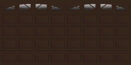 Ideal Sunrise 4 Star 16 X 8 Chocolate Insul Garage Door W Ez Set Spring At Menards Garage Door Insulation Garage Doors Garage Insulation
