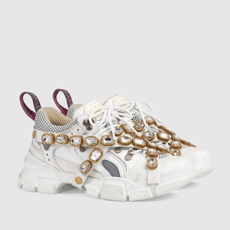 f94b89ad890 Gucci Flashtrek sneaker with removable crystals Detail 2
