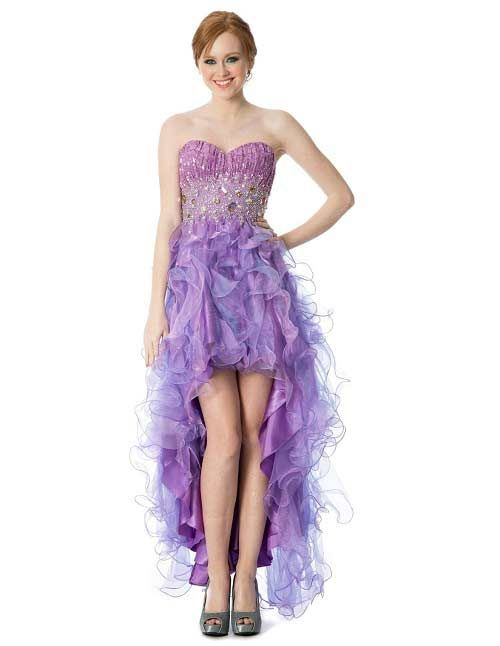 Lilac light purple junior plus size high low formal prom homecoming special occasion ruffle dresses 2015 - 2016  sc 1 st  Pinterest & Lilac light purple junior plus size high low formal prom homecoming ...