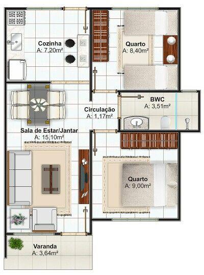 Casa pequena 2 quartos 7