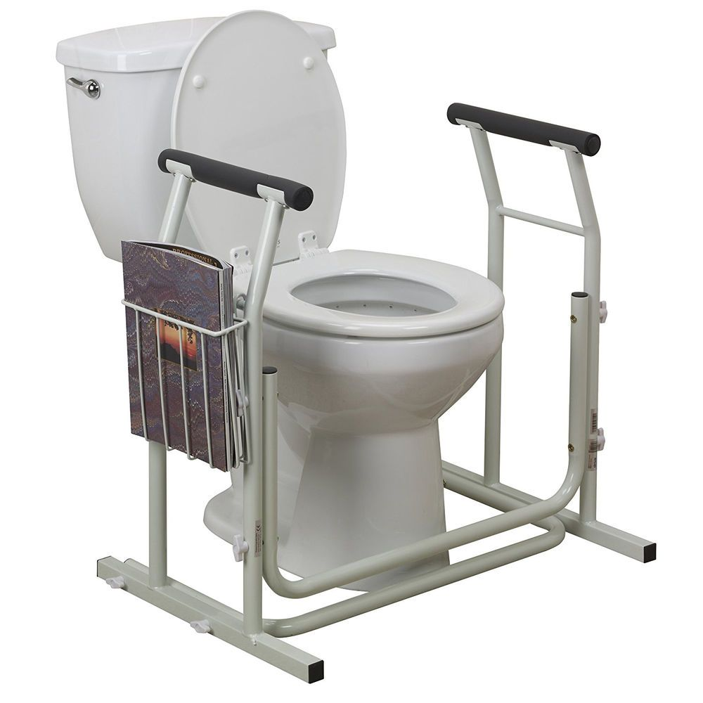 Toilet Safety Rails Frame Bar Support Medical Grab Bathroom Stand ...