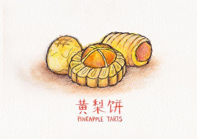 Chinese New Year Goodies Pineapple Tart Newyear Chinese New Year