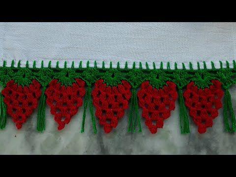 Barrado De Croche De Morango Passo A Passo Youtube Croche Pano