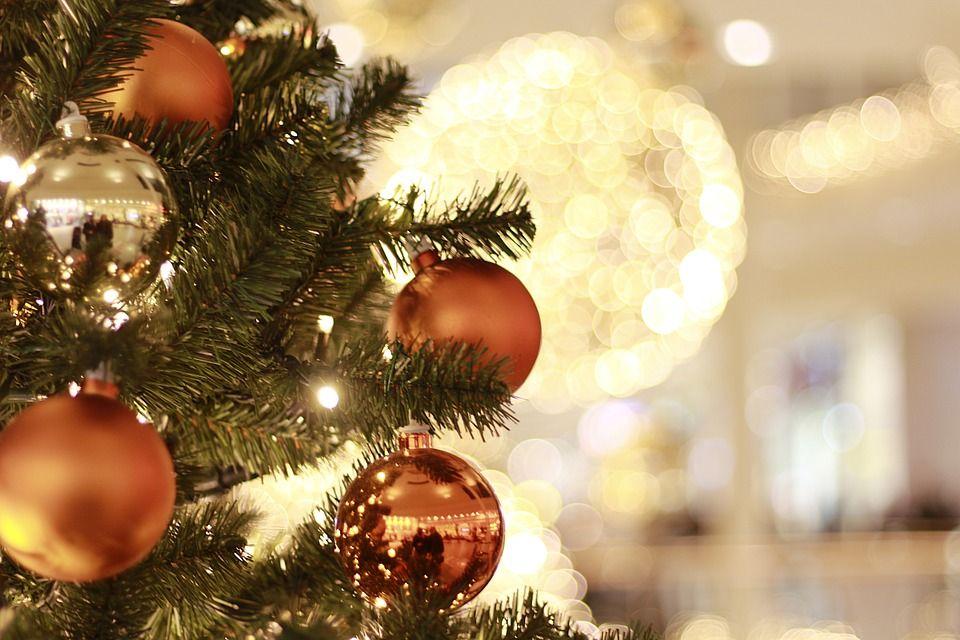 Natal, Decorações De Natal, Bolas, Árvore De Natal, Luz
