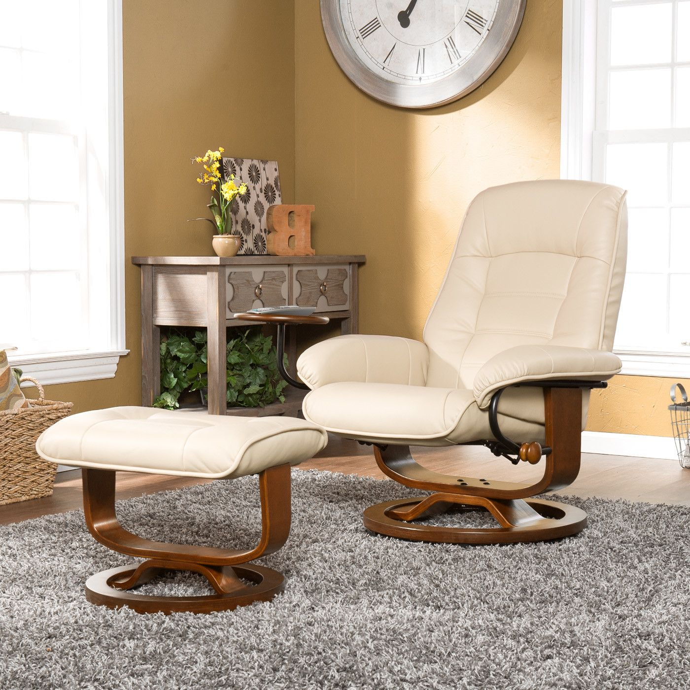 Verlene Grove Manual Recliner Recliner with ottoman