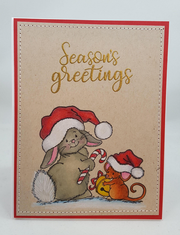 Christmas bunny mouse christmas handmade card greetings gift christmas bunny mouse christmas handmade card greetings gift christmas winter m4hsunfo