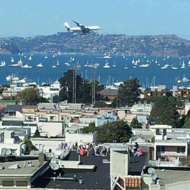 Flying over San Francisco. #SmartJob
