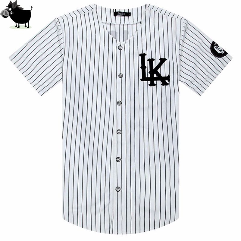 5f57c248504 Man Si Tun New 07 Last Kings baseball tshirt tyga jerseys black white unsex  Men Women Hip Hop style tees Tops rap rock T-shirts