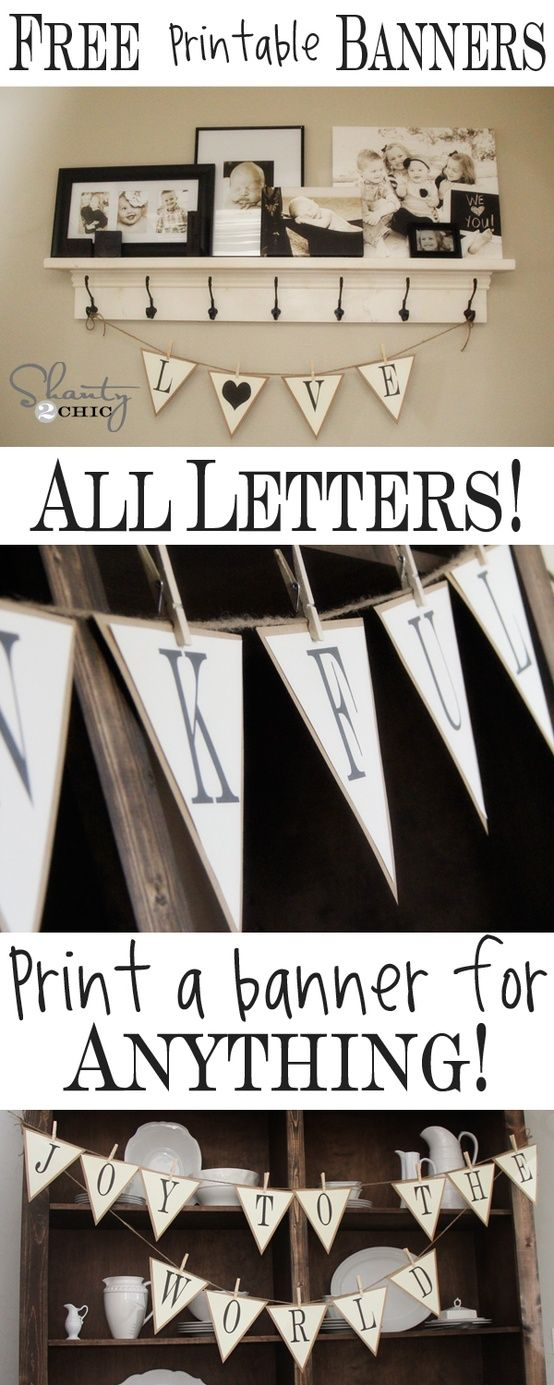 Free Printable Whole Alphabet Banner Basteln Partydeko