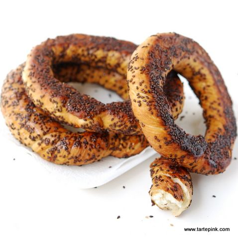 Turkish Street Food: Turkish Pretzel (Simit)