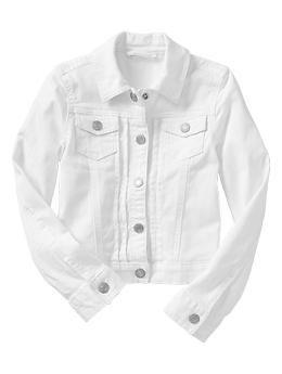 White Denim Jacket Kids Outfits Gap Kids Style Girl Fashion Style
