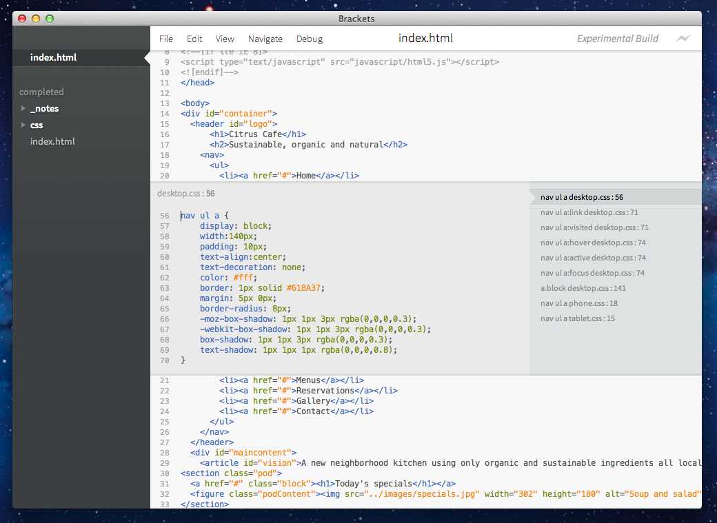 Brackets: a Revolutionary Code Editor for the Web by Adobe | Geek