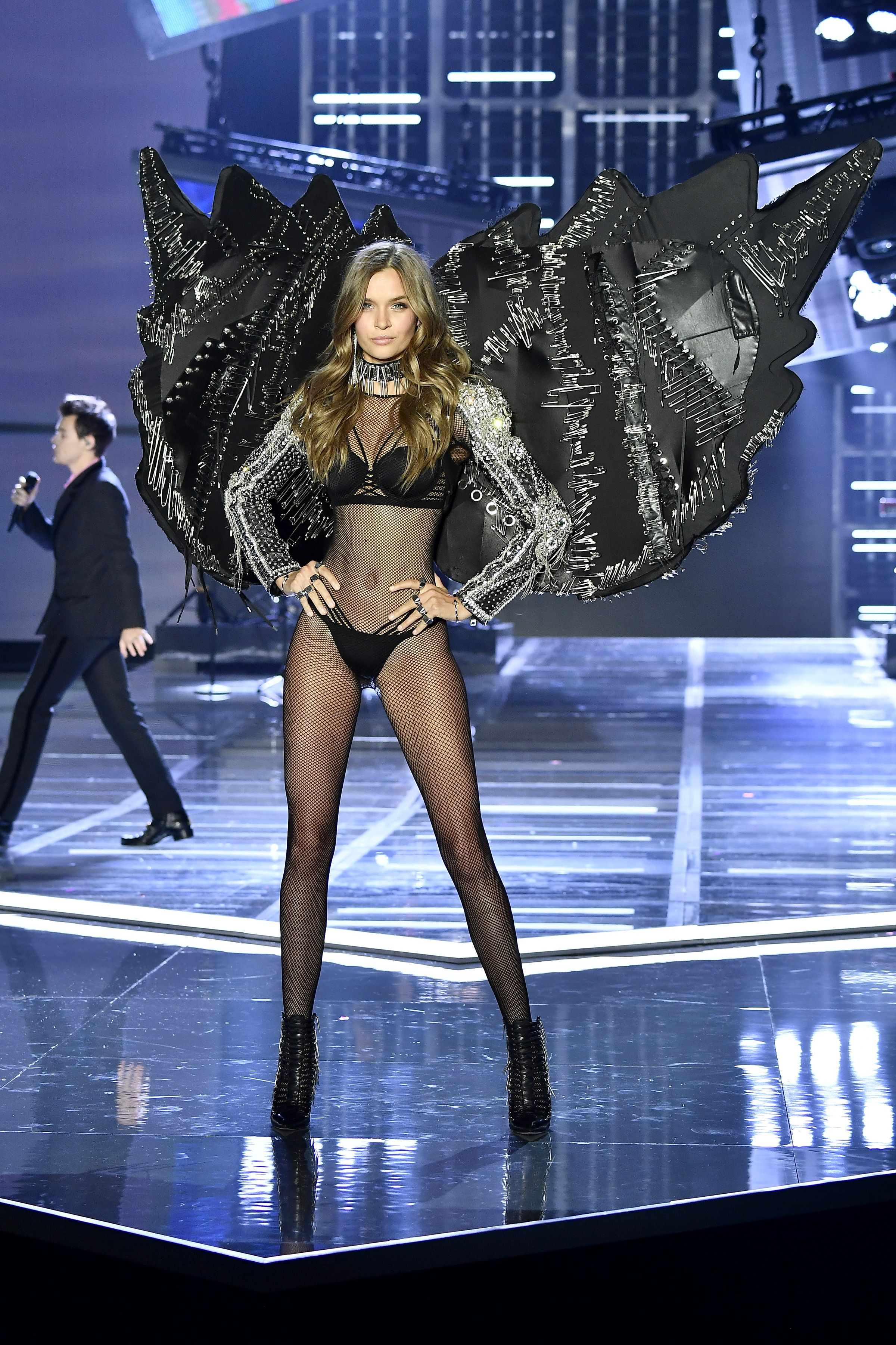 fcb766c2294 Josephine Skriver debuted the VSxBALMAIN collection at the Victoria s Secret  Fashion Show in Shanghai.