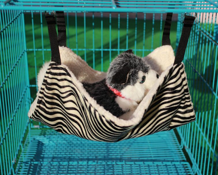 Leegoal Plush Cat Cage Hammock Kitty Pet Hanging Bed - Zebra Stripe Pattern  | Lazada Malaysia | Pet cage, Small dog cage, Dog bed furniture