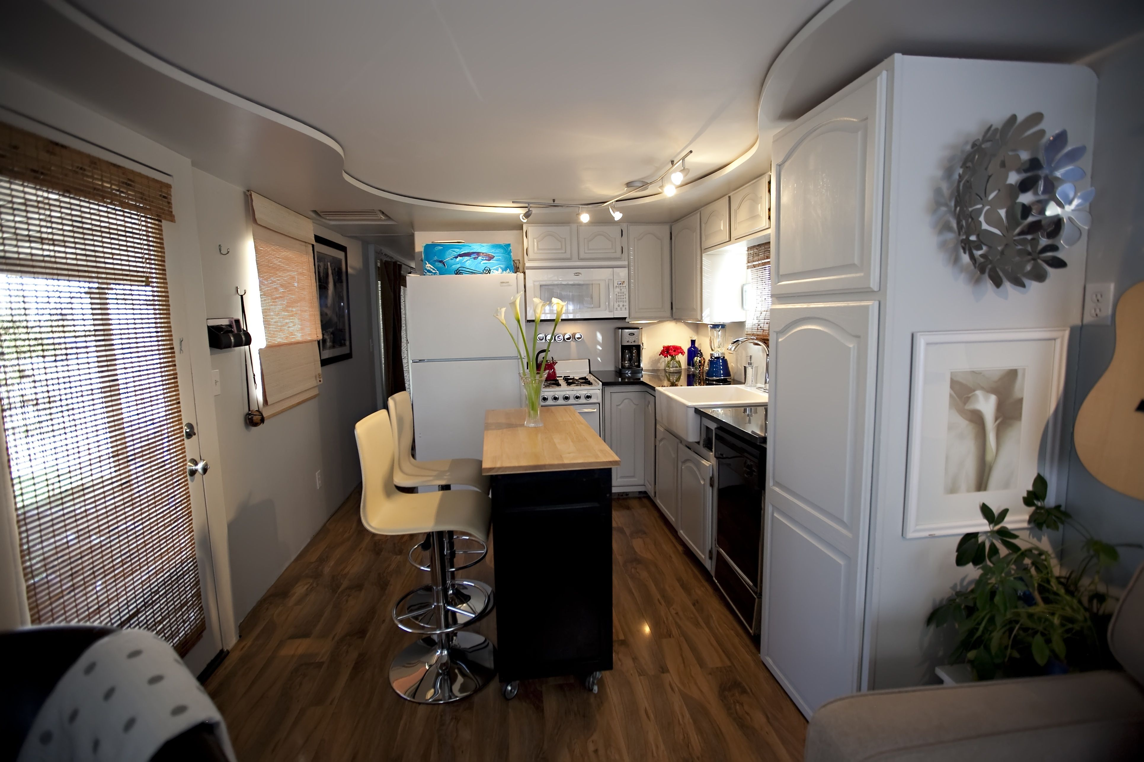 Total Trailer Remodel  Mobile & Manufactured Home Living  Single Fascinating Small Mobile Home Kitchen Designs Design Inspiration