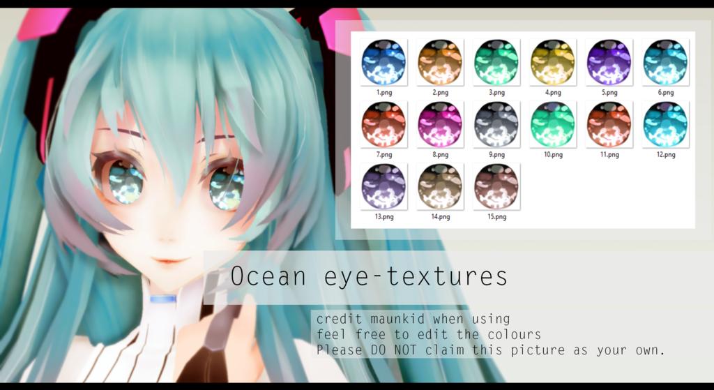 Mmd Ocean Eye Textures Dl By Maunkid Mmd Pinterest Eye