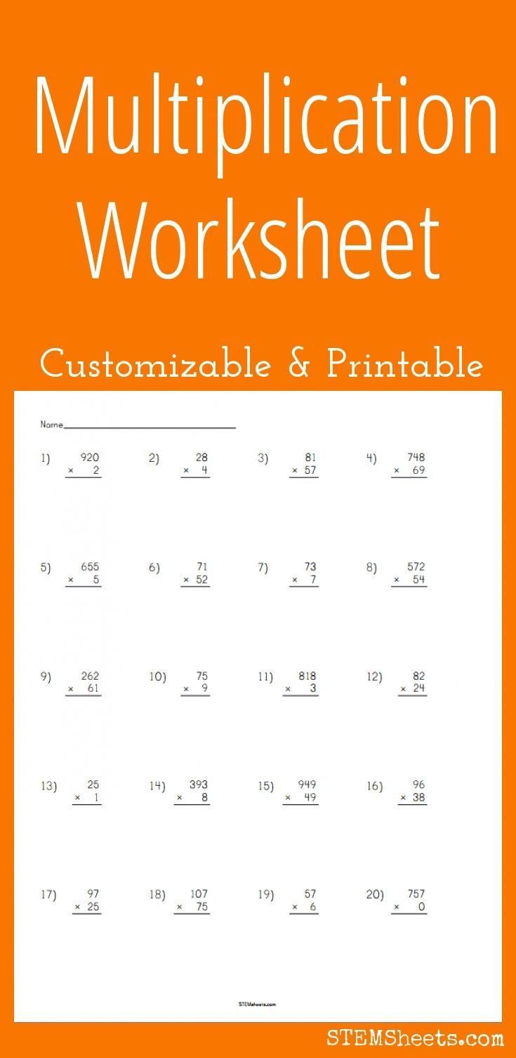 Multiplication Worksheet Multiplication Worksheets Printable Multiplication Worksheets Maths Primary School