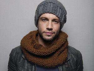 tricoter un bonnet de laine pour homme