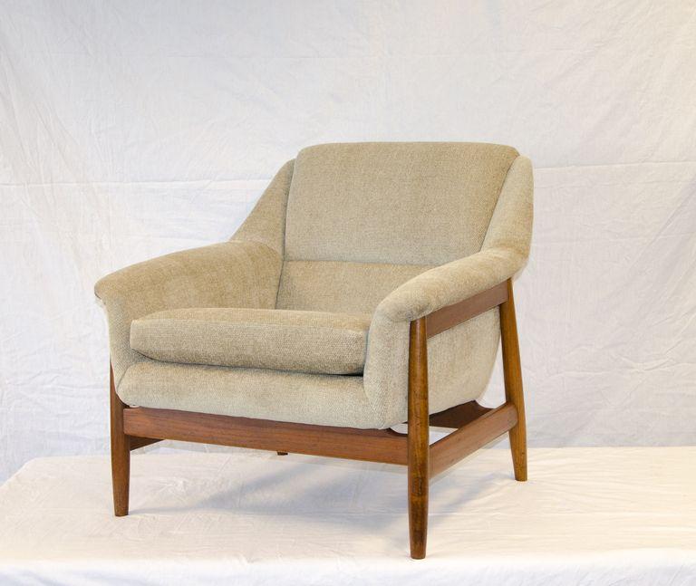 Danish Dux Style Lounge Chair Teak Frame