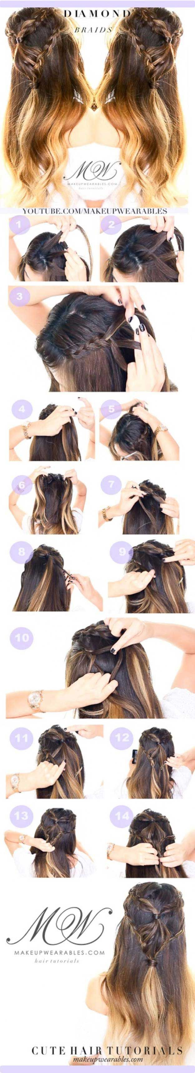 amazing half uphalf down hairstyles for long hair headband