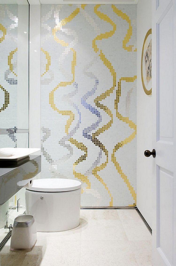 Badezimmer design gold modernebadezimmergestaltungfliesenkleinbadgoldspiegelsilber