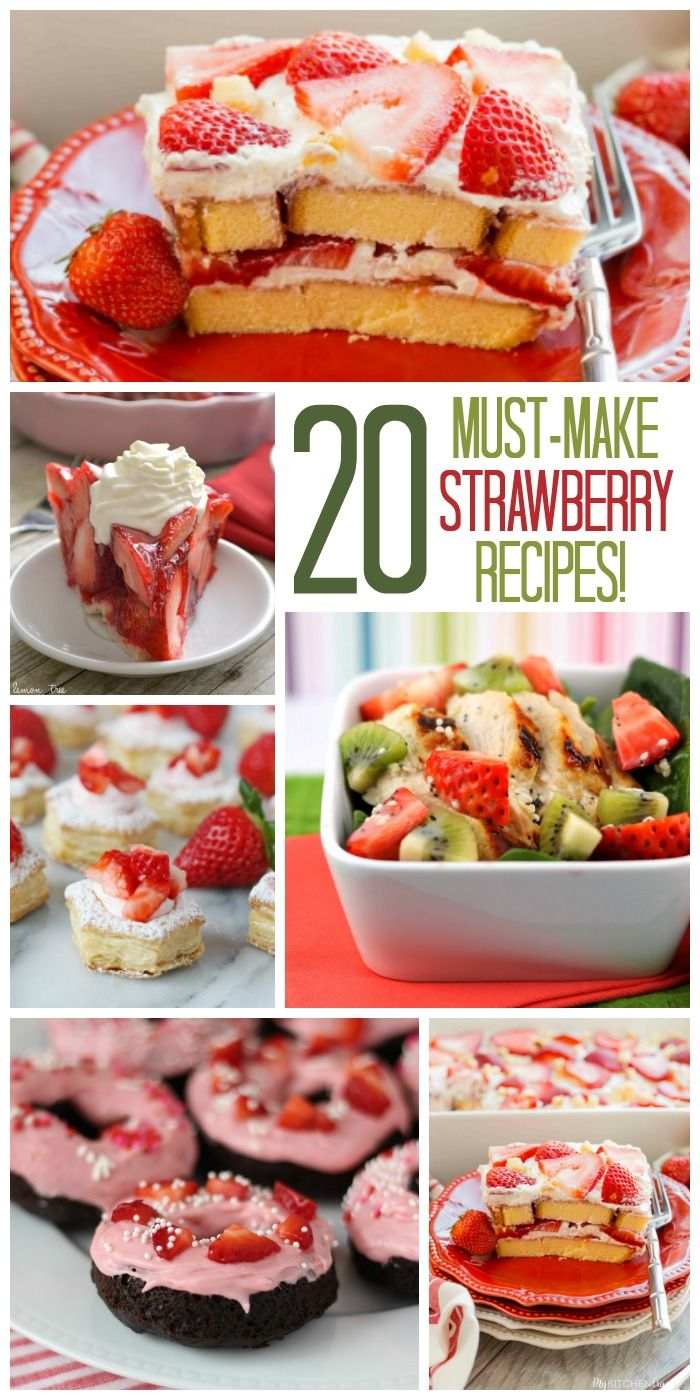You NEED these 20 Strawberry Recipes in your life! Not berry season? Use frozen!