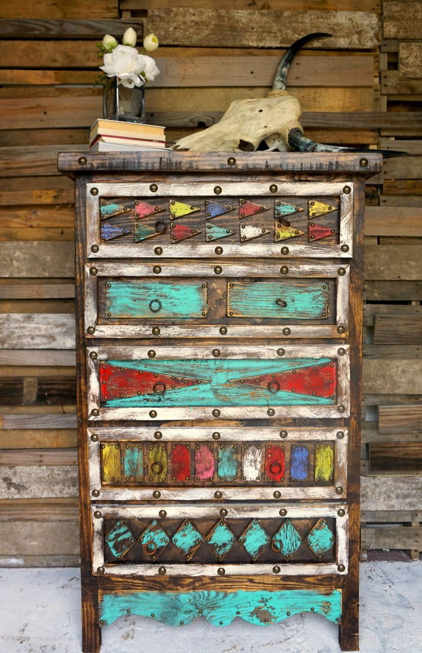 Aztec Dresser. Turquoise Rustic BedroomDistressed Turquoise FurnitureDistressed  ...