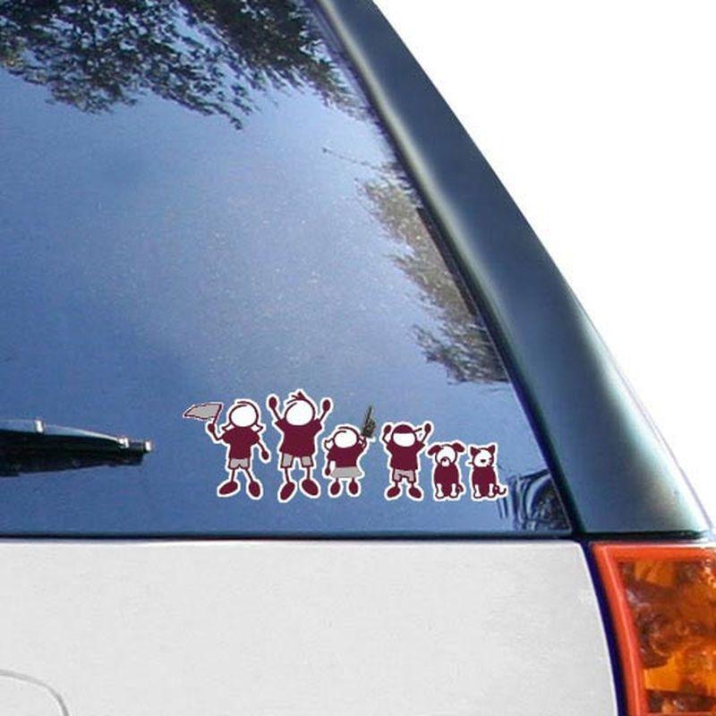 Texas a x 12 family car decal sheet