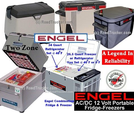 Engel 12 Volt Fridge Freezers A Legend In Reliability For The Sleeper Cab Refrigerator Freezer Portable Refrigerator Refrigerator