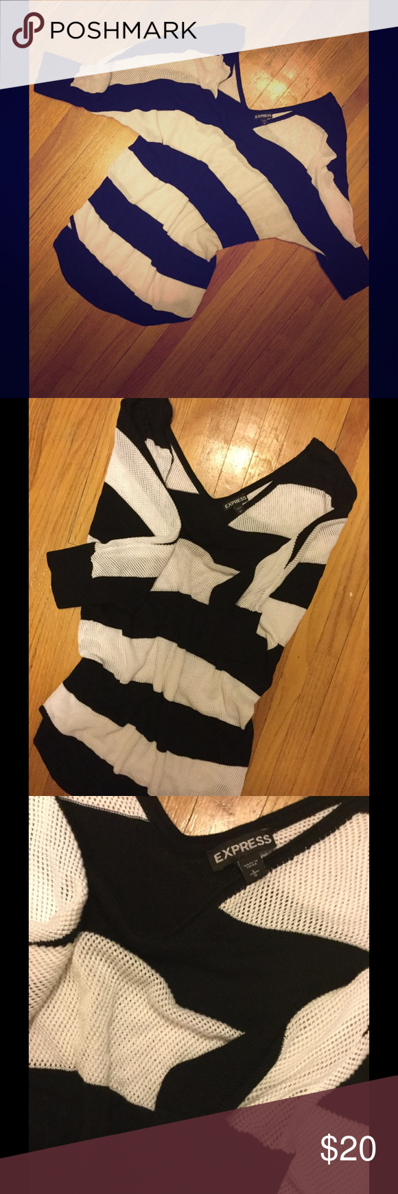 NWOT Express Knit 3/4 Length Top Never worn, but looks perfect w/ leggings and boots! Express Sweaters V-Necks
