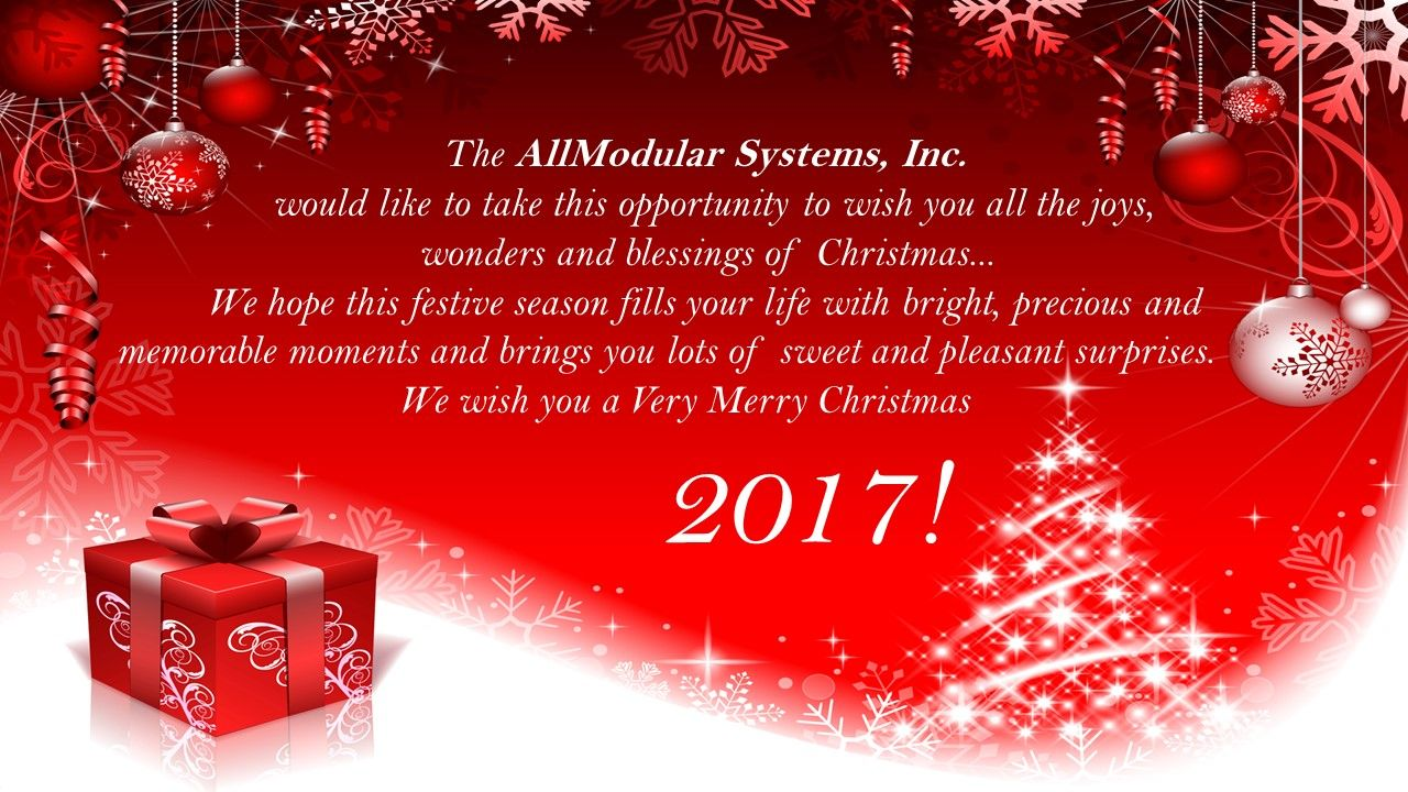 Merry christmas 2017 from allmodular systems inc how