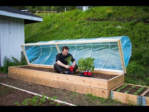 Easy Diy Hinged Hoophouse For Raised Bed Raised Garden Beds