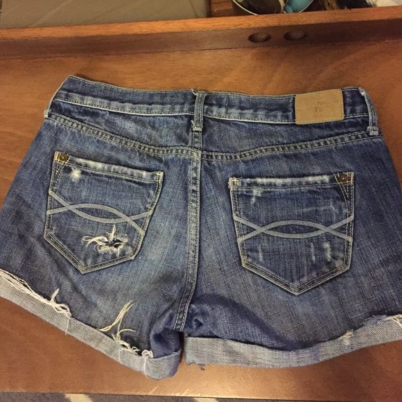 Abercrombie & Fitch denim distressed shorts These are my favorite shorts! They fit amazingly Distressed A&F These will become you're favorite pair of shorts! Abercrombie & Fitch Shorts Jean Shorts