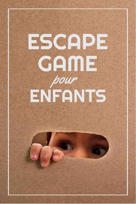 Escape game pour enfants faire la maison activit enfant escape game enfant jeu - Creation a faire a la maison ...