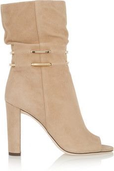 Jimmy Choo Mysen chain-trimmed suede boots | NET-A-PORTER