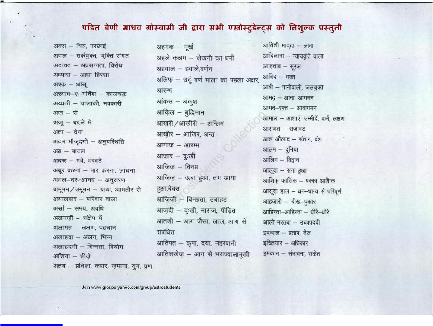 Lalkitab Urdu Words Meanings In Hindi Urdu Words With Meaning Urdu Words Hindi Words