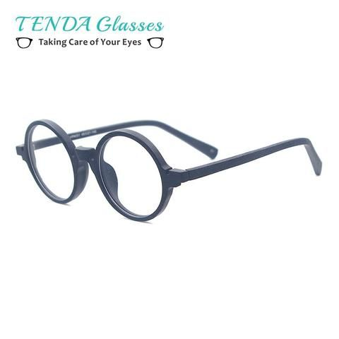 2d0f84744d Acetate Small Spectacles Round Wood Texture Vintage Glasses Frames For  Eyeglass Lensesmodlilj