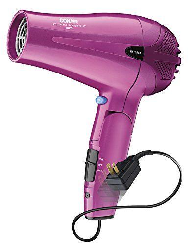 Conair 1875 Watt Cord Keeper 2 In 1 Styler Hair Dryer With Diffuser Hair Dryer Hair Tools Damaged Hair Repair