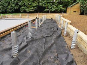 Plots Béton Terrasse En Bois : Utilisez Les Plots De Fondation