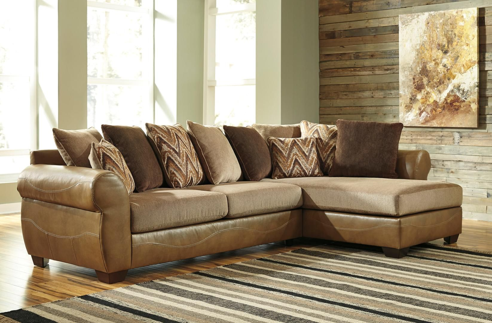 Benchcraft 863021766 Declain Series Sofa And Chaise Faux Leather