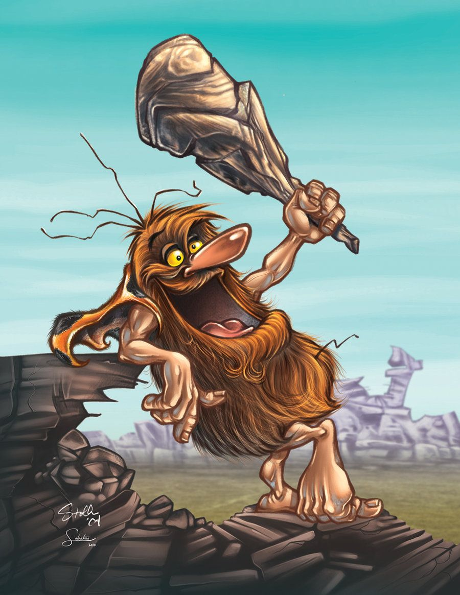 Caveman Artist : Captain caveman by salvatoreaiala viantart on