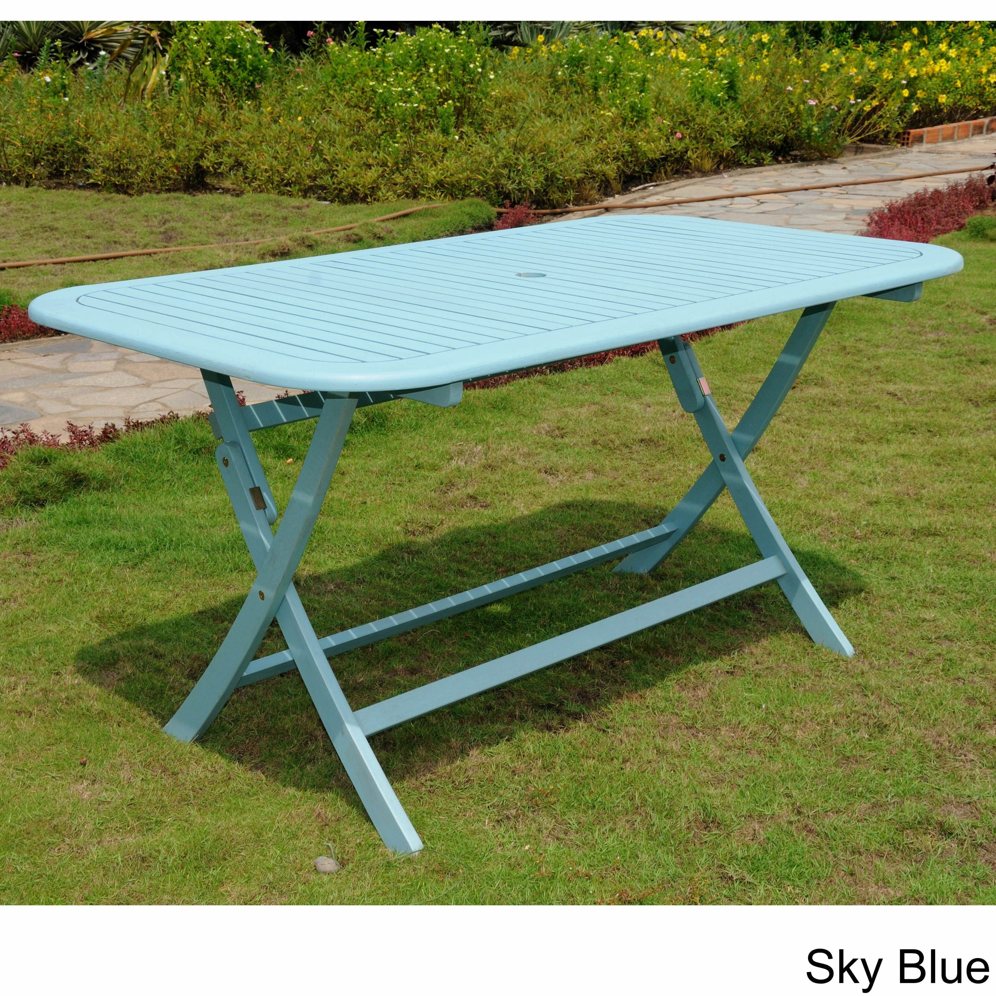 International caravan royal tahiti rectangular folding patio table