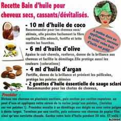 diy bain d 39 huile pour cheveux secs cassants d vitalis s 10 ml huile de coco 6 ml huile d. Black Bedroom Furniture Sets. Home Design Ideas
