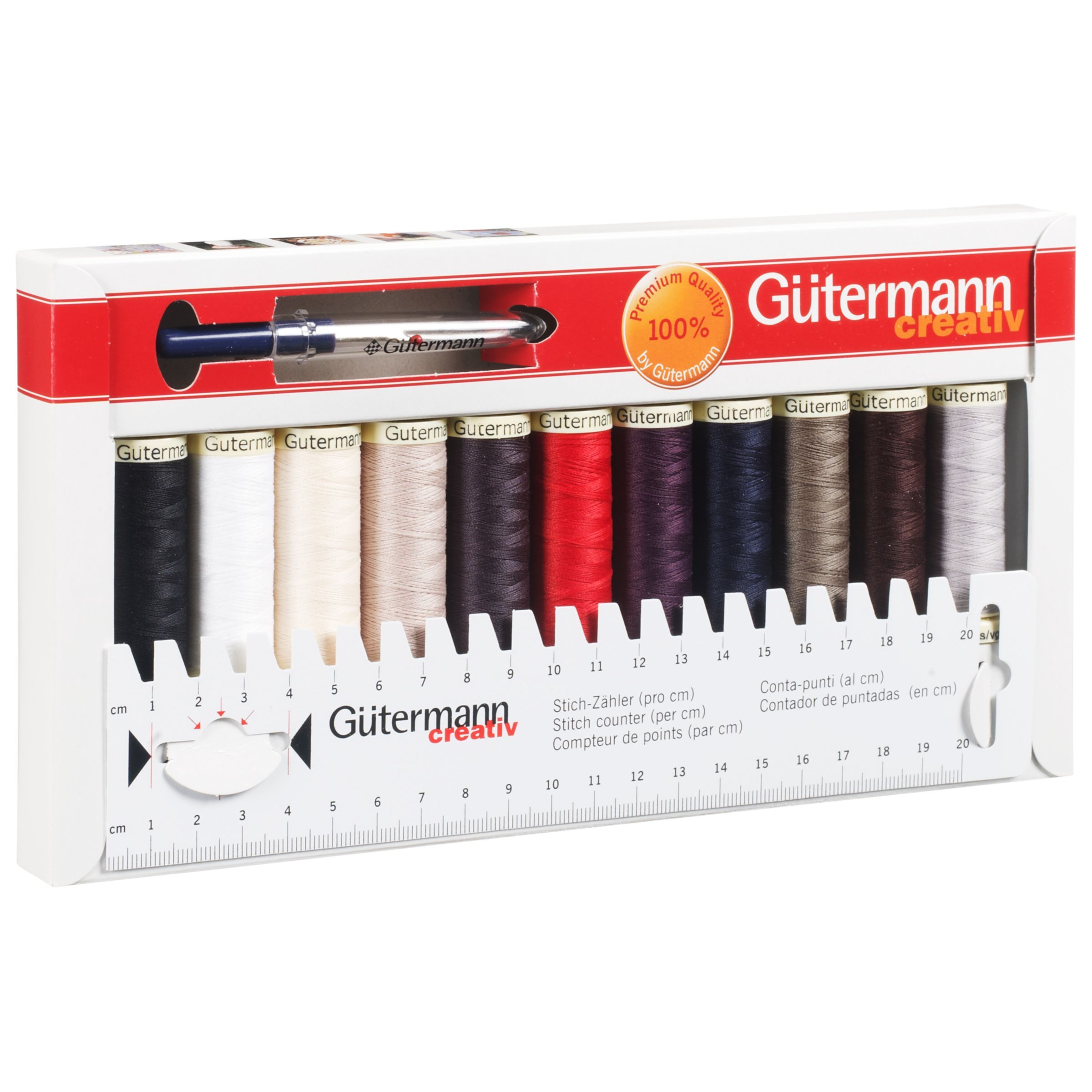 10 x Gutermann Rayon Thread Assorted Colour Reel Machine Embroidery Sewing Craft